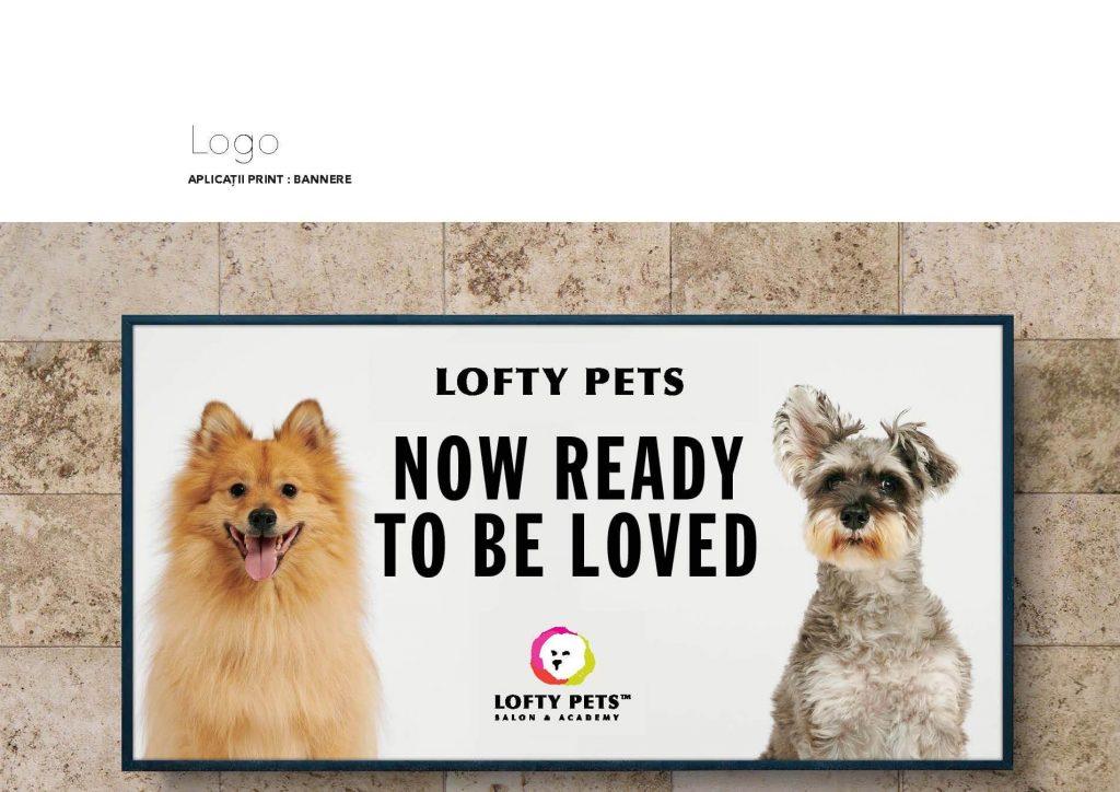 Bannere outdoor: design pentru Lofty Pets, client Agentia Connect Media.