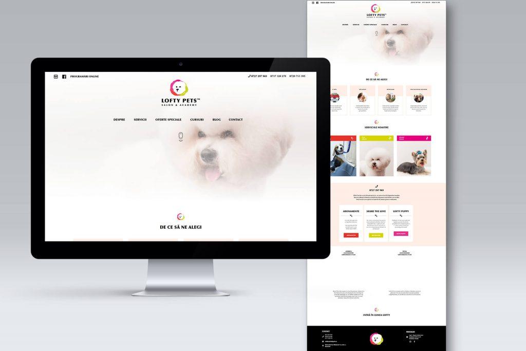 Website pentru groomer canin Bucuresti Lofty Pets, client agentia Connect Media.