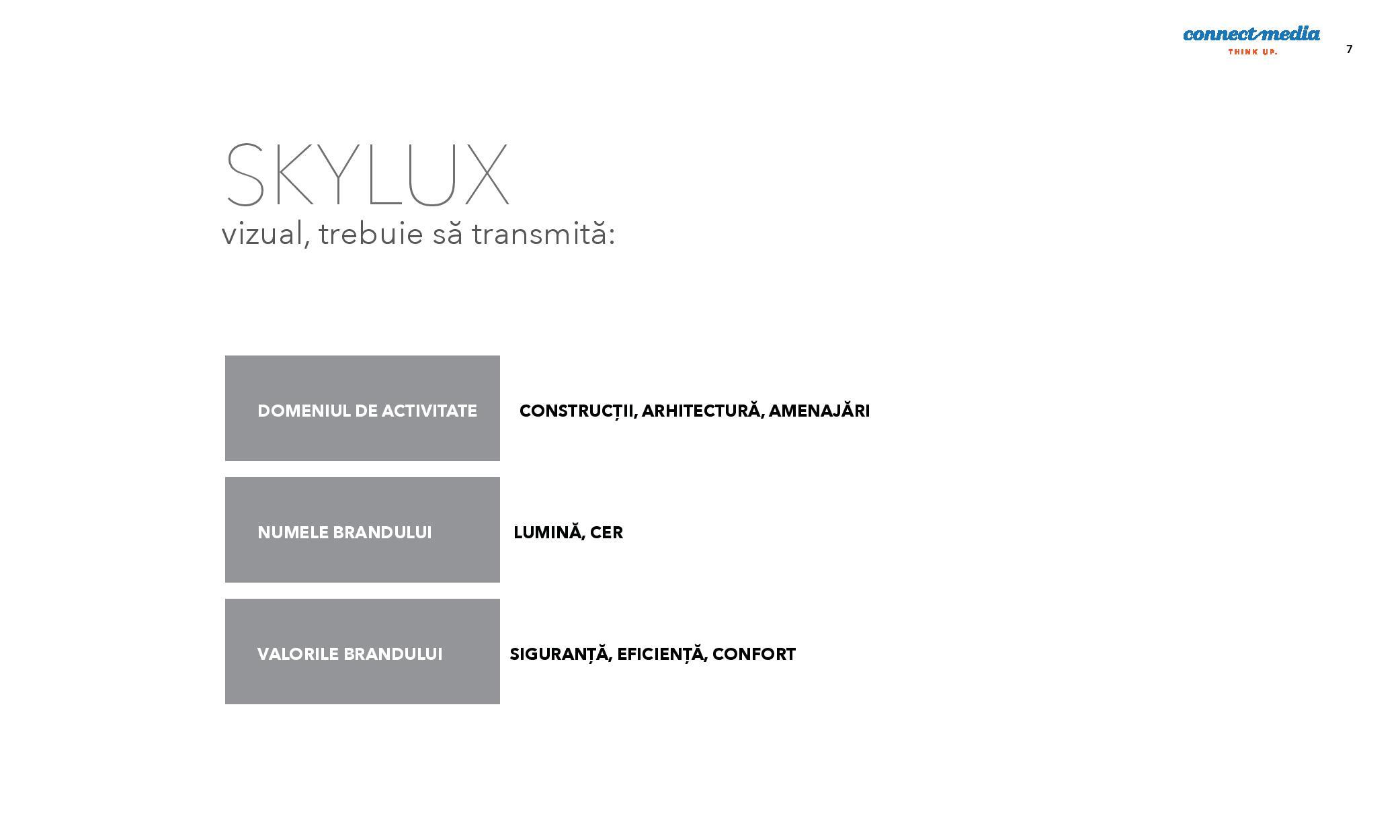 Rebranding Skylux Connect Media - valorile brand-ului